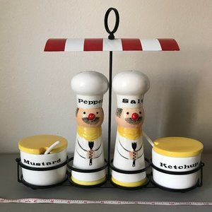 Vintage Shafford Salt & Pepper Shakers, Condiment